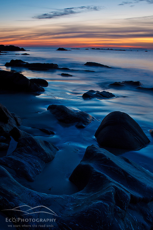 Dawn over the Atlantic Ocean in Rye, New Hampshire.