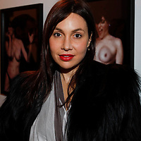 """Fabiola Beracasa attends the opening of """"Lady"""" by Douglas Friedman at the Ruffian Gallery on April 23, 2009 in New York City."""