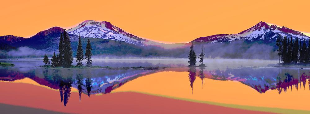 Sparks Lake,South sister,Central Oregon,USA