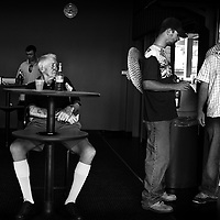 AT THE RACES, A scene in the public bar at Warwick Farm racecourse, near Sydney, Australia.