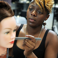 Hair course at CNWL...Pictures by Jonathan Goldberg..