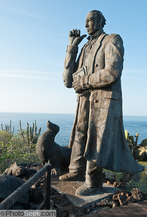 "Tourism sites near the town of Puerto Baquerizo Moreno include a statue of Charles Darwin, marking the original site where he first disembarked in the Galápagos Islands during the voyage of the Beagle, on 16 September 1835. Isla San Cristóbal (Chatham Island) is the easternmost island in the Galápagos archipelago, and one of the oldest geologically.  Its Spanish (and most commonly used) name ""San Cristóbal"" comes from the Patron Saint of seafarers, ""St. Christopher."" Its older English name of Chatham is that of William Pitt, 1st Earl of Chatham. Its highest point rises to 730 meters. The capital of the Galápagos archipelago, Puerto Baquerizo Moreno, lies at the south-western tip of the island."