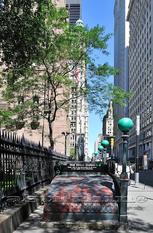 Wall Street Station New York City USA