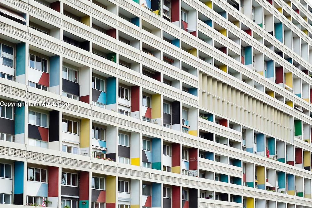 external view of corbusierhaus modernist apartment building built as unite d 39 habitation in. Black Bedroom Furniture Sets. Home Design Ideas