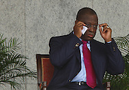 Manuel Vicente during the swearing in of the JES.