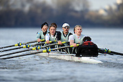 """London; GREAT BRITAIN; Both Cambridge crew Shake racing  University Trial Eights for crew selection for 157th Boat Race [April 2011]  raced over the Championship Course Putney to Mortlake  on the River Thames. Wednesday  - 08/12/2010   [Mandatory Credit; """"Photo, Peter Spurrier/Intersport-images].Crews.  CUBC Shake; Surrey Station Bow, Jamie LOGIE, 2. Andrew VIQUERTAT, 3. James STRAWSON, 4. Ben EVANS, 5. Dan RIX-STANDING, 6. Hardy CUBASCH, 7. George NASH, stroke. Joel JENNINGS and cox Tom FIELDMAN."""