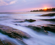 0903-1013 ~ Copyright:  George H. H. Huey ~ Sunset, Penobscot Bay, Maine
