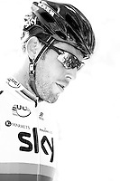 Mark Cavendish in black and white