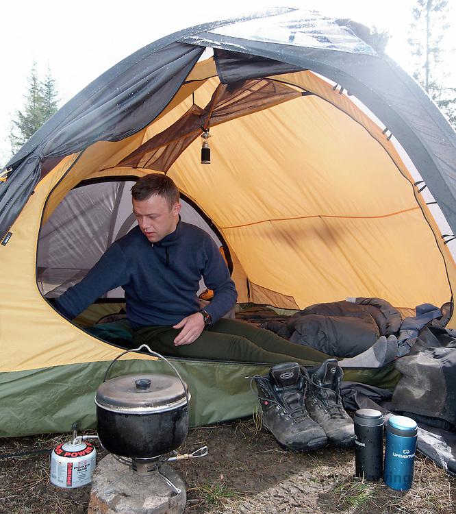 Teltåpningen til Helsport gimle 4 - tent
