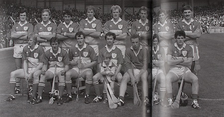 Offaly-All-Ireland Hurling Champions 1985. Back Row: Pat Fleury (capt), Joachim Kelly, Tom Conneely, Eugene Coughlan, Pat Delaney, Joe Dooley, Padraig Horan, Aidan Fogarty. Front Row: Danny Owens, Brendan Bermingham, Pat Cleary, Ger Coughlan, Jim Troy, Mark Corrigan, Paddy Corrigan.