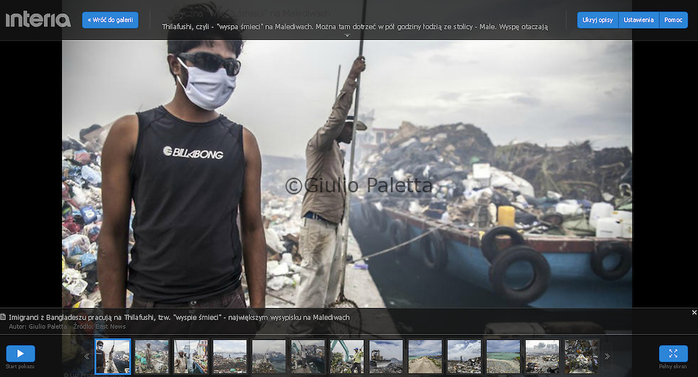 Thilafushi, The Rubbish Island, The Maldives. Published on Interia.pl website, December 2015