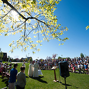Mass in the Grass on Jundt lawn.