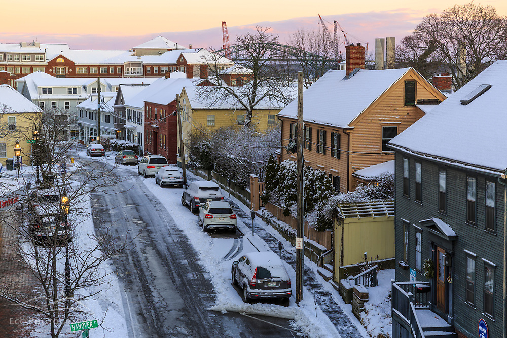 High Street in Portsmouth, New Hampshire. Winter.