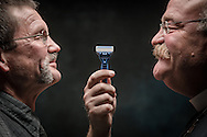"""Mustache Resolution"" photo illustration on Monday, Sept. 12, 2016, in the studio of the International Center of The Lutheran Church–Missouri Synod in St. Louis. LCMS Communications/Erik M. Lunsford"