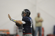 Ole Miss's Nathan Stanley (12) at spring football practice in the IPF in Oxford, Miss. on Monday, April 4, 2011.