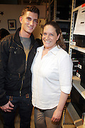 l to r: Donnie Klang and his mother Michelle Cirillo at 'Spring on Mulberry Block Party'  celebration for Shane and Shawn Shoes sponsored by Bombay Sapphire and held at The Shane & Shawn Store in New York City on May 7, 2009