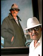 Master artist, Rafael Tufiño with self-portrait.