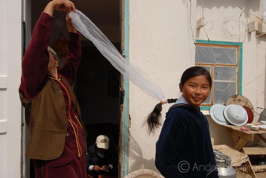 Telek village. The first school day