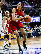 SOUTH BEND, IN - FEBRUARY 11: Sheronne Vails #3 of the Louisville Cardinals makes a move to the basket against the Notre Dame Fighting Irish at Purcel Pavilion on February 11, 2013 in South Bend, Indiana. Notre Dame defeated Louisville 93-64. (Photo by Michael Hickey/Getty Images) *** Local Caption *** Sheronne Vails