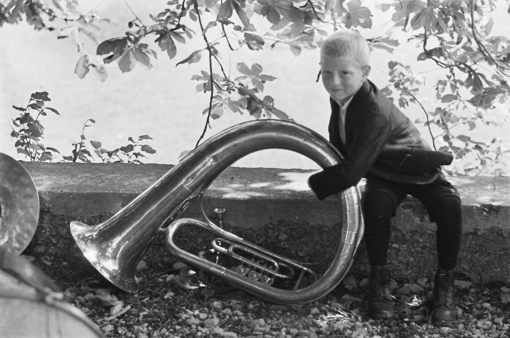 Instrument, church, diamond wedding anniversary, Leonstein, Austria, 1937