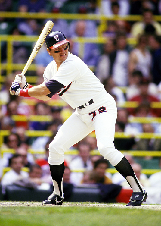 CHICAGO - UNDATED:  Baseball Hall of Fame catcher Carlton Fisk of the Chicago White Sox bats during an MLB game at Comiskey Park in Chicago, Illinois.  Fisk played for the White Sox from 1981-1993. (Photo by Ron Vesely)
