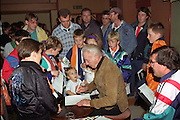 Sir stanley Matthews signing autographs in The Tangerine Nitespot