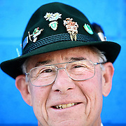 SHOT 9/22/2007 - Ivan Weisbrod of Aurora, Co. flashes a smile while taking a break from performing traditional German dances at the 38th Annual Oktoberfest in Denver, Co. Modeled after Oktoberfest in Munich Germany, Oktoberfest on Larimer Street commemorates this world-famous and time-honored tradition of German heritage. The festival has truly become a Denver mainstay offering German attractions, music from national touring groups, performances by international dancers, children?s activities, heritage booths selling German good, splendid décor, and accordion concert, and authentic cuisine. Oktoberfest Denver will move from its previous home on Larimer Square to Denver?s Ballpark Neighborhood. The new site, on Larimer Street between 20th and 22nd..(Photo by Marc Piscotty © 2007)