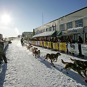 Yukon Quest 2009 start in Whitehorse. Dan Kaduce.