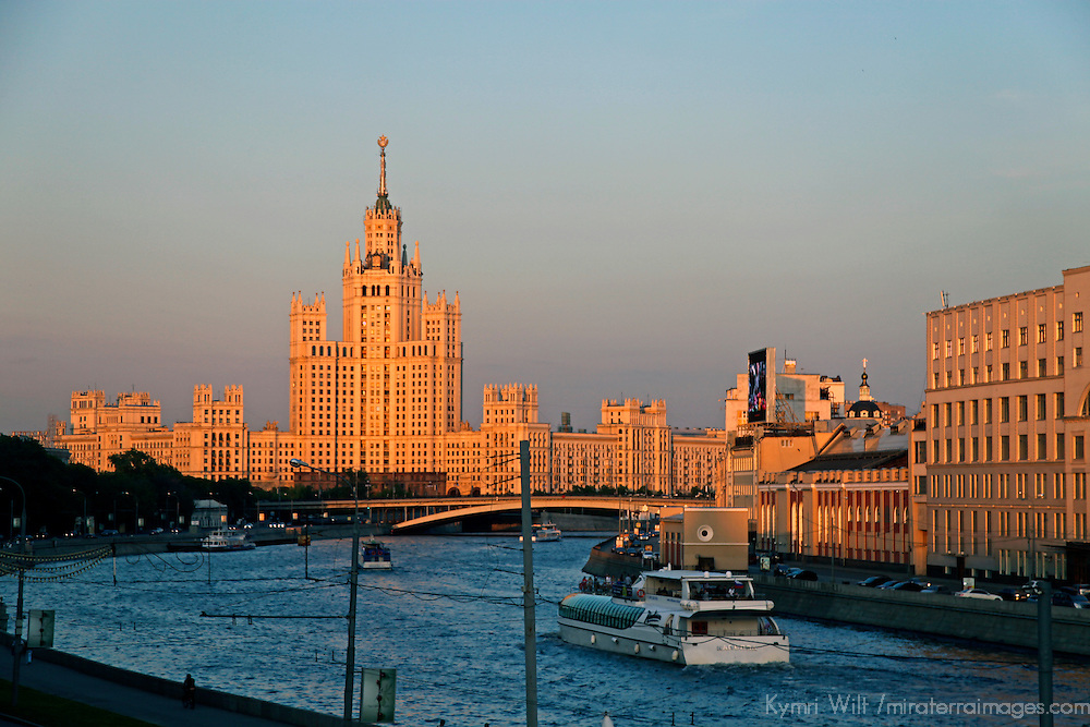 Europe, Russia, Moscow. The Moskva River.
