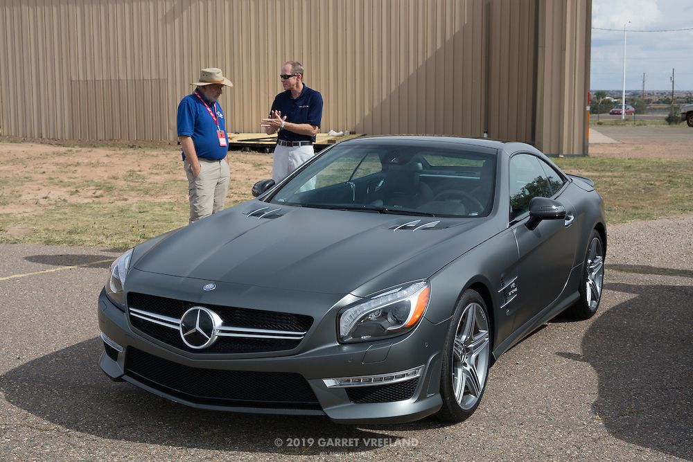 The matte finish Shadow Grey paint on this Mercedes generated a lot of discussion and interest.