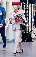 GRONINGEN - Princess Beatrix unveils on Friday, April 17th at the Beatrix Children's Hospital of the University Medical Center Groningen (UMCG), a collage of portraits of herself  .Prinses Beatrix onthult op vrijdag 17 april in het Beatrix Kinderziekenhuis van het Universitair Medisch Centrum Groningen (UMCG) een collage portretten van zichzelf. COPYRIGHT ROBIN UTRECHT