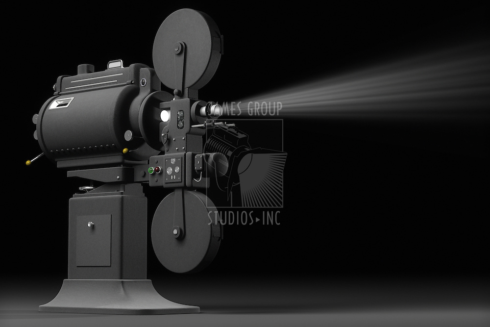 Professional, industrial movie projector