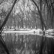 Spring River in southwest Missouri after an early winter snow.