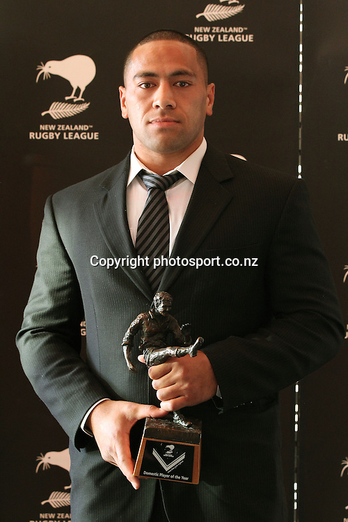 2012 New Zealand Rugby League Awards at Westpac House, Britomart, Auckland. Domestic Player of the Year Suaia Matagi