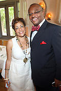24 June 2010- Miami Beach, Florida- l to r:  Dolly Turner and Clarence E. Woods at the The 2010 American Black Film Festival Founder's Brunch held at Emeril's on June 24, 2010. Photo Credit: Terrence Jennings/Sipa