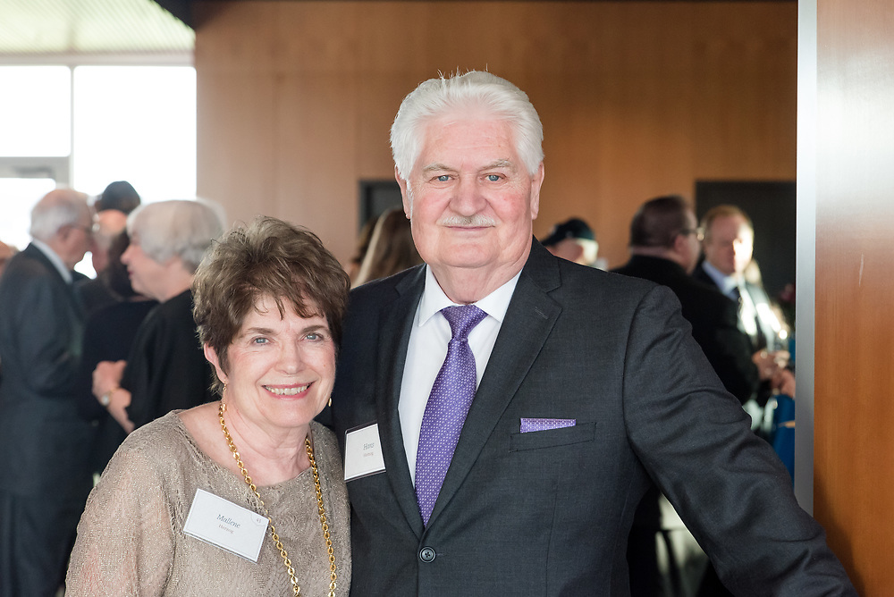 The Gonzaga community came together to celebrate Fritz and Jeanie Wolff's contributions to the University, and present them with the Ignatian Spirit Award on April 6th, 2017 in the Hemmingson Ballroom. (Photo by Edward Bell)