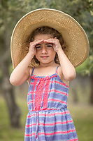 Five year old Calistoga resident Naomi Golm at Vincent Arroyo Vineyard