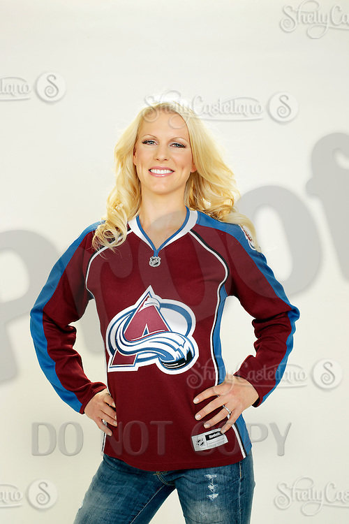 9 November 2012: Kristen Giguere.  Wife of professional hockey player J.S. Giguere of the Colorado Avalanche. Photographed for the Real Housewives of the National Hockey League in Tustin, CA.