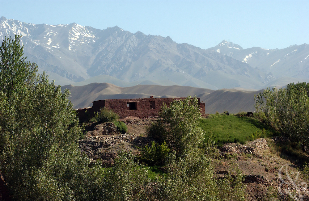 A traditional Afghan mud house sits atop a hill within the remote Baba mountain range June 17, 2002 near Bamiyan, Afghanistan. Coalition forces continue to scour Afghanistan for traces of remaining al Qaeda and Taliban fighters as part of the ongoing Operation Enduring Freedom.
