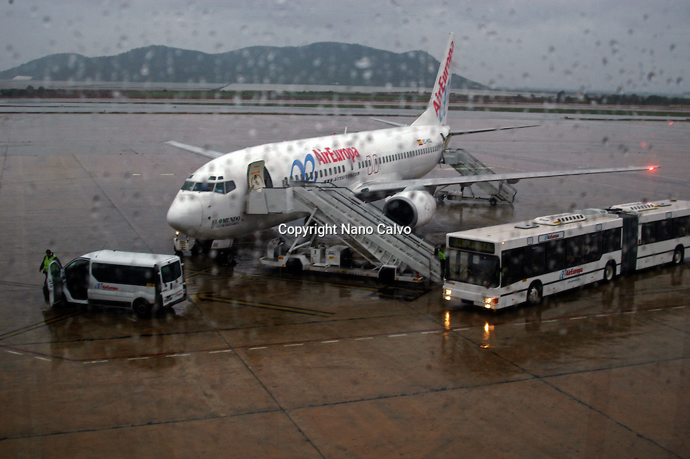 Rainy day in Ibiza Airport