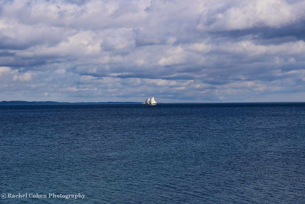 &quot;Wind in the Sails&quot;<br /> <br /> A strong wind and a wonderful day for sailing!<br /> <br /> The Great Lakes by Rachel Cohen