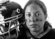 Portraits of the players from the Jersey Justice Women's Football Team in Carteret, NJ.. The Independent Women's Football League (IWFL),  is a full tackle women's professional football league.<br /> <br /> *all images model released*
