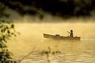 Canoeing in Algonquin Park, Ontario Canada