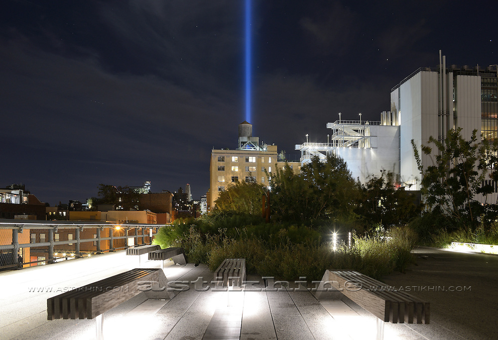 """Tribute in Light"" from The High Line. NYC."