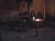 The old kitchen in the Convent of Santa Catalina, Arequipa, Peru.<br /> LIMITED EDITION PRINT
