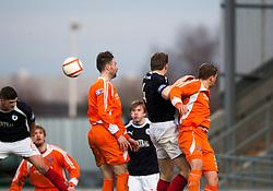 Falkirk's Stewart Murdoch (6) scoring their second goal..Falkirk 4 v 1 Forfar Athletic, Scottish Cup fifth round tie, 2/2/2013. .©Michael Schofield.
