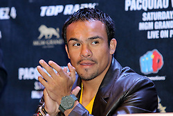 Sept 19, 2012; New York, NY, USA; Juan Manuel Marquez during the press conference announcing his fourth fight against Manny Pacquiao at The Edison Ballroom.