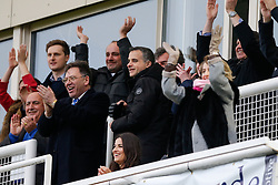 New Bristol Rovers President Wael Al-Qadi celebrates with his family (amongst others) in the directors box after Rory Gaffney of Bristol Rovers scores a goal to make it 1-1 - Mandatory byline: Rogan Thomson/JMP - 07966 386802 - 20/02/2016 - FOOTBALL - Memorial Stadium - Bristol, England - Bristol Rovers v Morecambe - Sky Bet League 2.