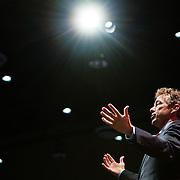 WAUKEE, IA - APRIL 25: Senator Rand Paul speaks Saturday, April 25, 2015, during the Iowa Faith & Freedom Coalition Spring Kick-Off at the Point of Grace Church in Waukee, Iowa.