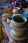 Baskets, Tarahumara indian village, Creel, Copper Canyon, Chihuaua, Mexico
